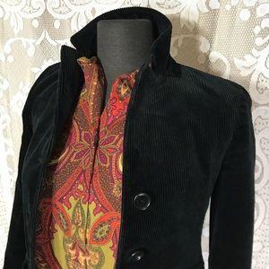THEORY Corduroy Black Blazer sz 0